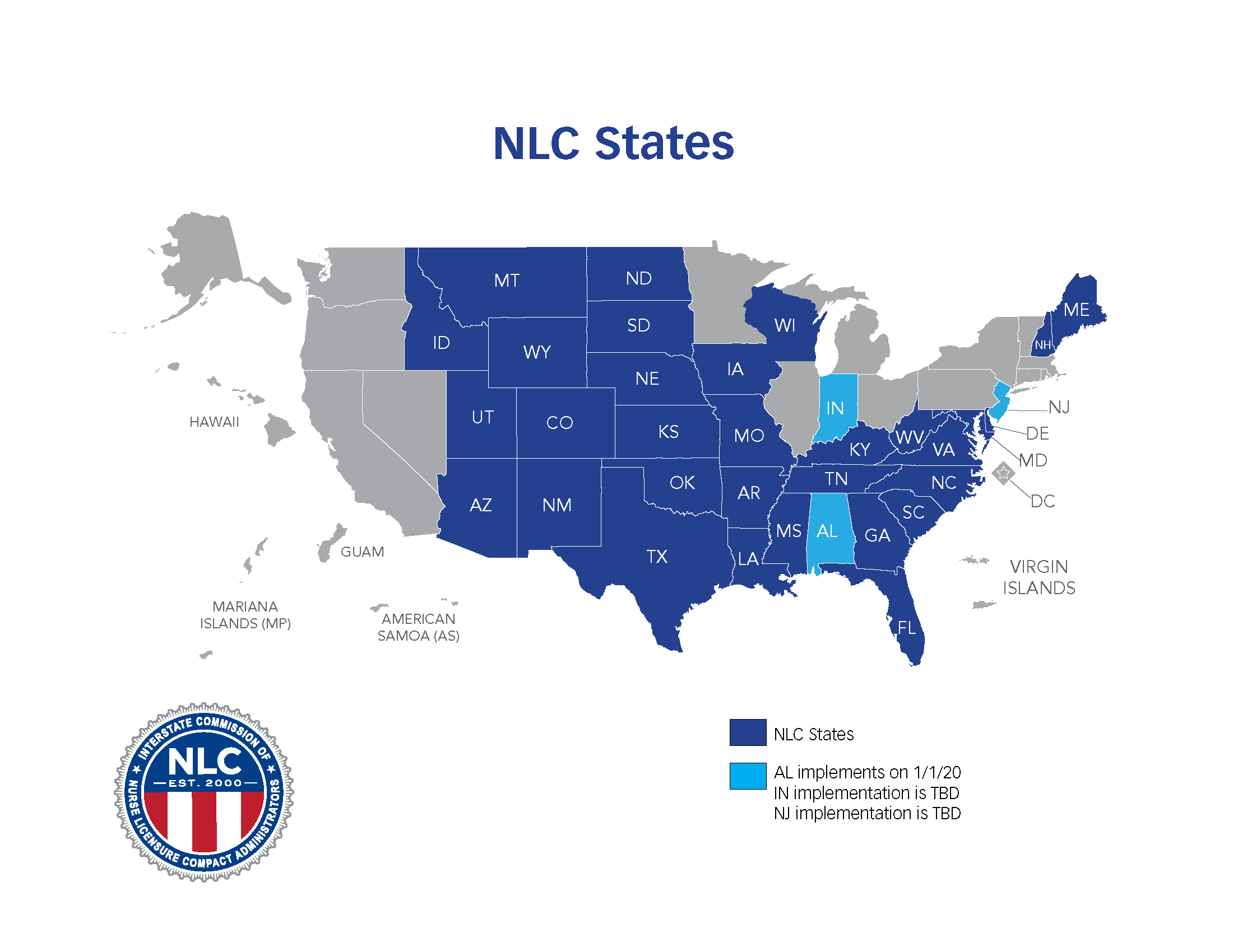 Nurse Licensure Compact Information and Participating States