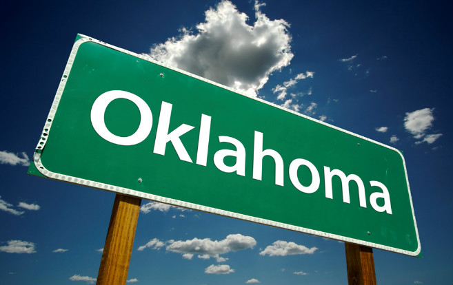 Compact State Map.Oklahoma 7th State In Enhanced Nlc Travelnursing Com