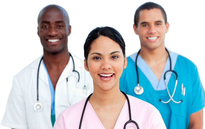 medical_team_multi-ethnic_nurse_foreground_teamwork_clinic